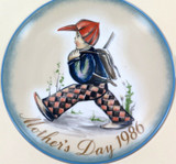 SCHMID GERMANY BERTA HUMMEL L/ED COLLECTORS PLATE + OUTER + COA MOTHERS DAY 1986