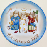 SCHMID GERMANY BERTA HUMMEL L/ED COLLECTORS PLATE + OUTER. CHRISTMAS 1978