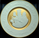 "SUPERB FRANKLIN PORCELAIN L/ED 1978 CHRISTMAS PLATE + BOX. ""WE THREE KINGS"""