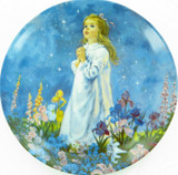 """E KNOWLES / RECO COLLECTORS PLATE + BOX + COA. """"TWINKLE TWINKLE LITTLE STAR"""""""