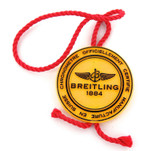 VINTAGE BREITLING MENS WATCH OFFICIAL YELLOW SWING TAG. SUITS MOST MODELS.