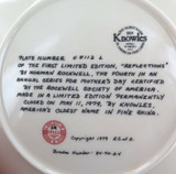 KNOWLES ROCKWELL L/ED COLLECTORS PLATE + BOX + COA MOTHERS DAY 1979, REFLECTIONS