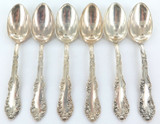 "SUPERB SET 6 TOWLE STERLING SILVER ""OLD ENGLISH"" LARGE TEASPOONS."