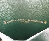 GENUINE VINTAGE ROLEX 0101.40.34 GREEN LEATHER WALLET #9