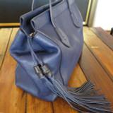 Gucci Blue Tassel Handbag 354469
