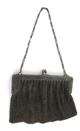 Antique Decorative .800 Silver French Chainmail Ladies Purse Bag 1900's