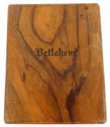 WW2 SOUVENIR BETLEHEM WOODEN CIGARETTE CASE.
