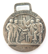 c1960s VINTAGE STERLING SILVER 30 YEARS SERVICE MEDAL. UNITED STATES STEEL CORP.