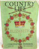 """1953 CORONATION QEII """"COUNTRY LIFE"""" LARGE THICK MAGAZINE."""