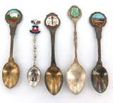 4 VINTAGE AUSTRALIAN SOUVENIR SPOONS INCL 1956 MELBOURNE OLYMPICS + CHILE.