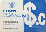 1967 NEW ZEALAND DECIMAL CURRENCY CHANGE OVER COIN FOLDER.