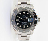 Auth 2012 Rolex Ceramic Submariner Steel Wrist Watch Full Box Set 116610LN