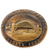 1932 OPENING SYDNEY HARBOUR BRIDGE METAL BUTTON / BADGE / LABEL.