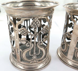 A PAIR 1903 ENGLISH STERLING SILVER JAMES DEAKIN HOLDERS