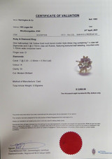 A Diamond & Ruby Cluster 14K Gold Ladies Dress Ring Size O Val $2850