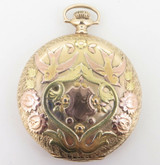 C.1920 Elgin Solid 14K Multi Colour Gold 16s Gentleman's Pocket Watch -Serviced
