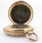 Antique Breitling Laederich 14k Gold 47.5 mm Key Wind Pocket Watch & Key