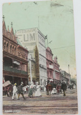 EARLY 1900s RUNDLE STREET, ADELAIDE COLOUR POSTCARD