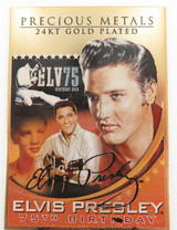 ELVIS PRESLEY 24K GOLD PLATED 75TH BIRTHDAY ANNIVERSARY COLLECTORS CARD.