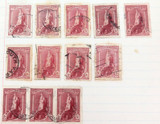19 x 1938 5/- & 10/- CORONATION USED HINGED STAMPS.