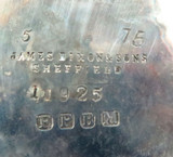 c1870s ENGLISH EPBM JAMES DIXON & SONS VERY LARGE HEAVY SET 3 PIECE TEA SET.