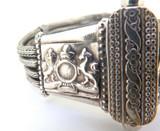 Interesting Silver & Plated Brass Triple Woven Silver Strand COA Bracelet 39.9g