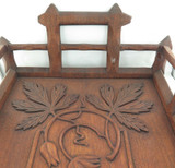 ARTS & CRAFTS LARGE WOODEN TRAY, ONE OF THE BEST YOU WILL EVER SEE !!!