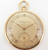 C.1930s Vacheron & Constantin 18K Gold 46.5mm Open Faced Pocket Watch