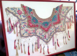 """c1860 CHINESE QING DYNASTY WEDDING CEREMONIAL EMBROIDED SILK """"CLOUD COLLAR"""""""