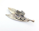 Vintage Stuart Nye Hand Wrought Sterling Silver Dogwood Design Brooch 7.1g
