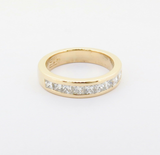 Handmade 1.00ct H VS Princess Cut Diamond 18k Gold Ring Size H Val $5380