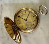 A. Lange & Sohne Glashutte pocket 14K Gold 51mm Hunter Pocket Watch & Box