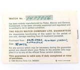 1966 ROLEX McMURDO STATION ANTARCTICA / UNBELIEVABLY RARE GUARANTEE DATED 1972