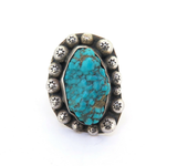Decorative Vintage Navajo Turquoise & Sterling Silver Ring 28.7g Size Q
