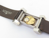Iconic 1970s Sterling Silver Longines Wristwatch 7102 Designed by Serge Manzon