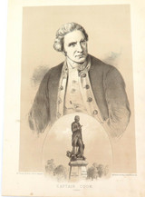 1879 HISTORY of AUSTRALASIA LITHOGRAPH. CAPTAIN COOK.