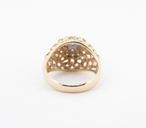 A Ladies 14K Yellow Gold 0.24ct Diamond Bombe Cluster Ring Size I.5 Val $2410
