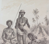 1879 HISTORY of AUSTRALASIA LITHOGRAPH. ABORIGINES of AUSTRALIA.