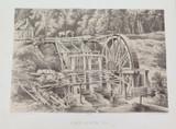 1879 HISTORY of AUSTRALASIA LITHOGRAPH. QUARTZ CRUSHING MILL. GOLD