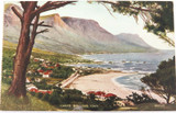 c1910 CAPE TOWN, SOUTH AFRICA, CAMPS BAY UNUSED COLOUR POSTCARD.