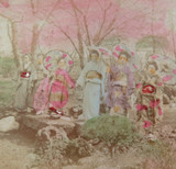 "1800s RARE JAPANESE MEIJI PERIOD ""SCHOOL of YOKOHAMA"" PHOTOGRAPH. GEISHA GIRLS."