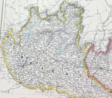 """c1860 LARGE """"WEEKLY DISPATCH ATLAS"""" MAP of LOMBARDY & VENICE"""