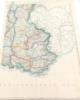 """c1860 LARGE """"WEEKLY DISPATCH ATLAS"""" MAP of SOUTH EAST FRANCE."""