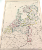 """c1860 LARGE """"WEEKLY DISPATCH ATLAS"""" MAP of HOLLAND."""