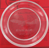 SCARCE VINTAGE EVA AIR B747-400 CLEAR GLASS BOWL.