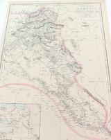 "c1860 LARGE ""WEEKLY DISPATCH ATLAS"" MAP of ARMENIA."