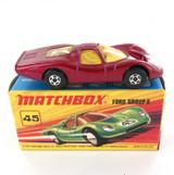 MIB VINTAGE MATCHBOX SERIES 45 FORD GROUP 6 DIECAST CAR + ORIGINAL BOX