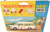 VINTAGE LESNEY KING SIZE K-6 MERCEDES BENZ AMBULANCE + ORIGINAL BOX + STRETCHER.