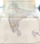 """c1860 VERY LARGE """"WEEKLY DISPATCH ATLAS"""" MAP of INDIA."""