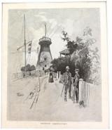 "1886 WOOD ENGRAVING ""BRISBANE OBSERVATORY""."